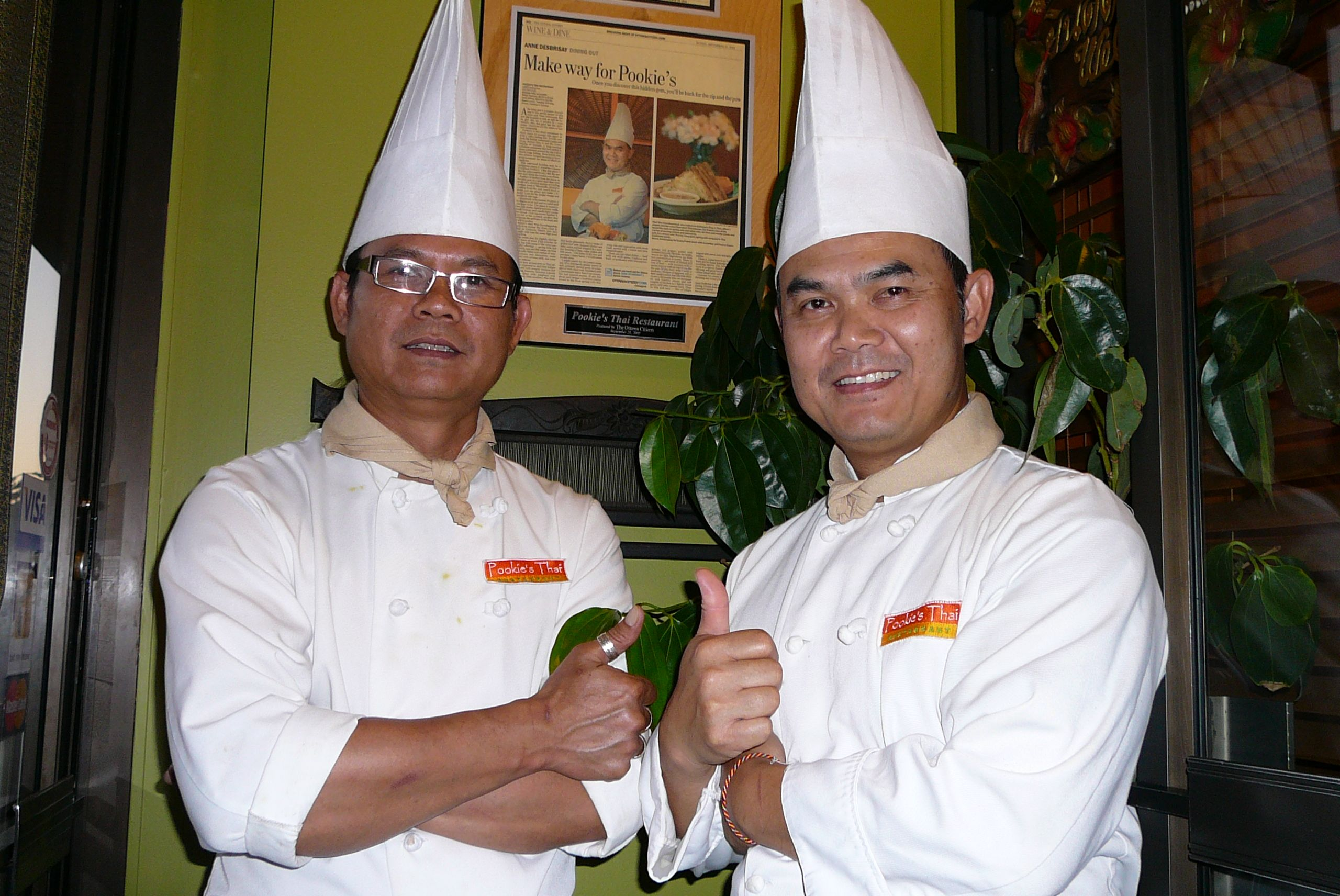 Our chefs Khun Wan and Khun Tuan